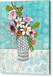 Sophia Daisy Flowers Acrylic Print by Blenda Studio