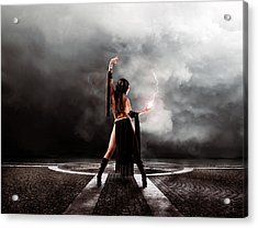 Sorceress Acrylic Print by Peter Chilelli