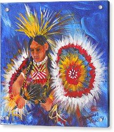 Souix Dancer Acrylic Print by Summer Celeste
