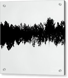 Sound Waves Made Of Trees Reflected Acrylic Print by Jorgo Photography - Wall Art Gallery
