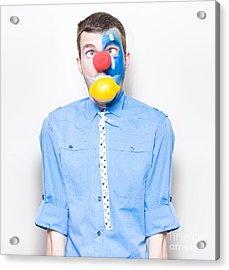 Sour Lemon Clown With Acid Reflux Dyspepsia Acrylic Print by Jorgo Photography - Wall Art Gallery