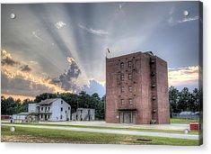 South Carolina Fire Academy Tower Acrylic Print by Dustin K Ryan