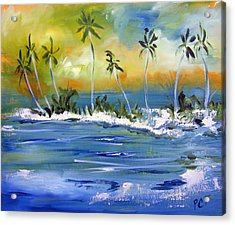 South Pacific Acrylic Print by Patricia Taylor