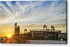 South Philly Sunrise - Citizens Bank Park Acrylic Print by Bill Cannon