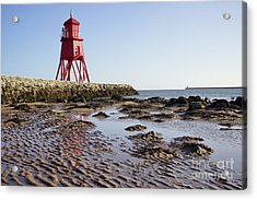 South Shields Groyne Acrylic Print by Stephen Smith