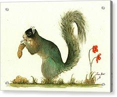 Southern Fox Squirrel Peanut Acrylic Print by Juan Bosco