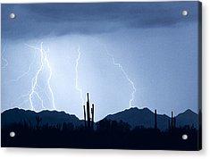 Southwest Desert Lightning Blues Acrylic Print by James BO  Insogna