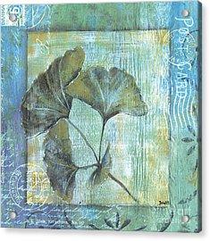 Spa Gingko Postcard 1 Acrylic Print by Debbie DeWitt