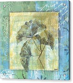 Spa Gingko Postcard  2 Acrylic Print by Debbie DeWitt