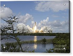 Space Shuttle Discovery Liftoff Acrylic Print by Stocktrek Images