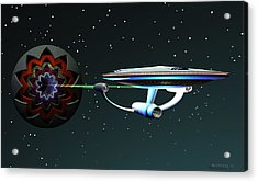 Space...the Final Frontier Acrylic Print by Walter Oliver Neal