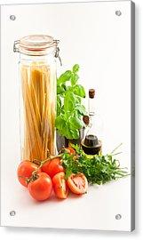 Spaghetti Acrylic Print by Tom Gowanlock