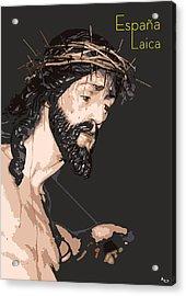 Spanish Christ Acrylic Print by Joaquin Abella