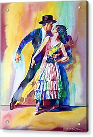 Spanish Dance Acrylic Print by David Lloyd Glover