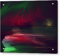 Sparkling Night Of The Aurora Borealis Acrylic Print by Angela A Stanton
