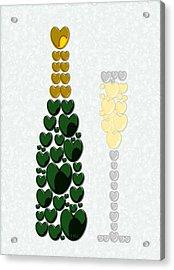 Sparkling Wine Acrylic Print by Anastasiya Malakhova