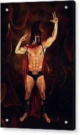Sparta Mike  Acrylic Print by Mark Ashkenazi
