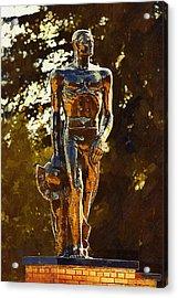 Sparty Acrylic Print by Paul Bartoszek