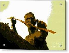 Spearfishing Man Acrylic Print by David Lee Thompson