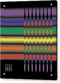 Spectral Integration Acrylic Print by Kevin McLaughlin