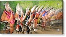 Speedwaves Acrylic Print by Lou Urlings