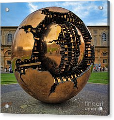 Sphere Within Sphere Acrylic Print by Inge Johnsson