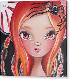 Spider Fairy Acrylic Print by Jaz Higgins