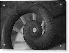 Spiral Banister Acrylic Print by Karen Giles