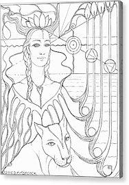 Spirit Guide Selmutee The Lemurian Acrylic Print by Debra A Hitchcock