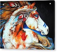 Spirit Indian War Horse Acrylic Print by Marcia Baldwin