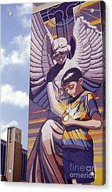 Spirit Of Healing Mural San Antonio Texas Acrylic Print by John  Mitchell