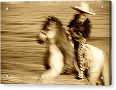 Spirit Of The Charro3 Acrylic Print by Nick Sokoloff