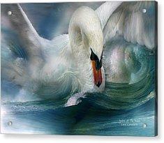 Spirit Of The Swan Acrylic Print by Carol Cavalaris