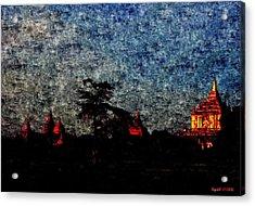 Spiritual Bagan Of Burma Acrylic Print by Tilaka-siri Dharmakirti
