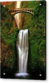 Spiritual Falls Acrylic Print by Scott Mahon