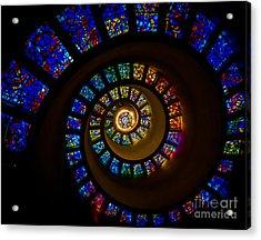 Spiritual Spiral Acrylic Print by Inge Johnsson