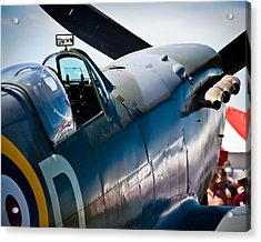 Spitfire Acrylic Print by Eric Miller