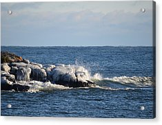 Splash On Ice Acrylic Print by Hella Buchheim