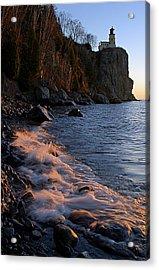 Split Rock Lighthouse At Dawn Acrylic Print by Larry Ricker