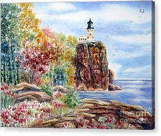 Split Rock Lighthouse Acrylic Print by Deborah Ronglien