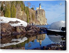 Split Rock Reflections Acrylic Print by Sandra Updyke
