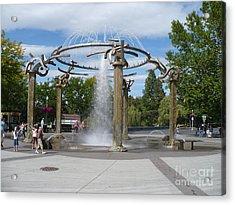 Spokane Fountain Acrylic Print by Carol Groenen