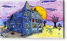 Spooky House Acrylic Print by Jame Hayes