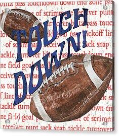 Sports Fan Football Acrylic Print by Debbie DeWitt