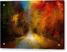Spotlight On Autumn Acrylic Print by Jai Johnson