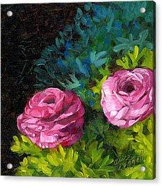 Spring Dewdrops Acrylic Print by Alice Leggett