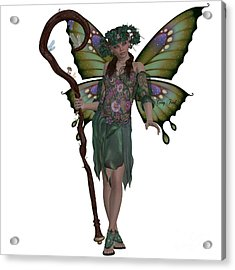 Spring Fairy Acrylic Print by Corey Ford