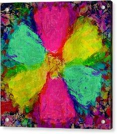 Spring Floral Acrylic Print by Susan Leggett