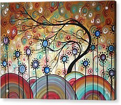 Spring Flowers Original Painting Madart Acrylic Print by Megan Duncanson
