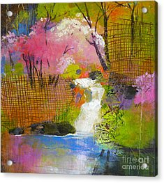 Spring Garden Acrylic Print by Melody Cleary